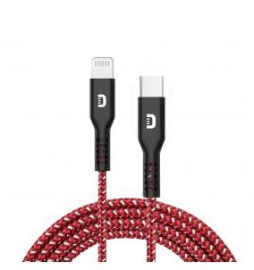 Kevlarowy przewód Zendure SuperCord USB-C -Lightning(1m)